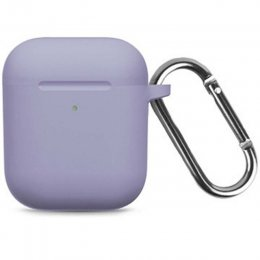 airpods 1 2 silikon påse skydd hake lila violet purple behållare