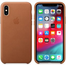 Apple iPhone XS original läderfodral brun