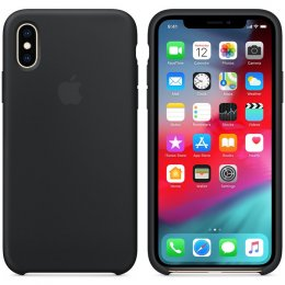 Original Apple iPhone X/XS Silikonskal Svart