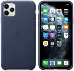 Apple iPhone 11 Pro Max Läderskal Midnattsblå original