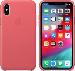 Apple iPhone XS Max läderfodral rosa original