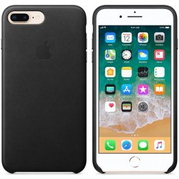 Apple iPhone original Läderskal iPhone 8 Plus iPhone 7 Plus Svart MQHM2ZM/A