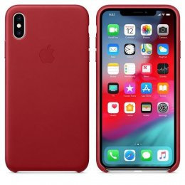 Apple iPhone XS Max läderfodral Röd