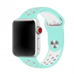 apple watch 40mm 42mm armband turkos vit turquoise white