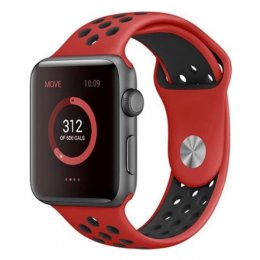 apple watch 40mm 42mm armband röd svart red black vulkan volcano