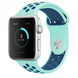apple watch 42mm armband mint navy blå