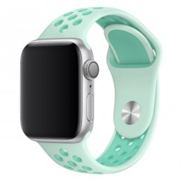 apple watch 40mm 42mm armband turkos tropisk turquoise vit white