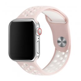 apple watch 40mm 42mm armband rosa sand vit pink