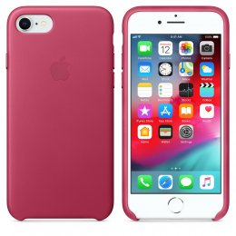 Apple Original ​Läderskal för iPhone 8 / 7 - Fuchsia