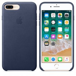 Apple Läderskal för iPhone 8 Plus/7 Plus Midnattsblå