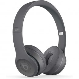 Beats Solo 3 Wireless on-ear hörlurar på örat headphones grå asfalt gray asphalt