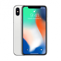 Begagnad iPhone X 64gb silver.
