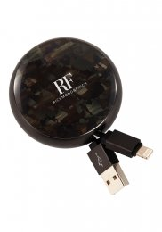 Richmond & Finch Cable Winder För Iphone & Ipad - Camouflage