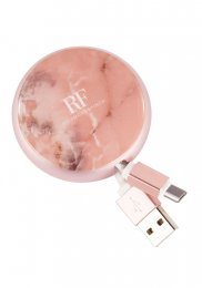 Richmond & Finch Cable Winder TYPE C & MICRO-USB - Pink Marble
