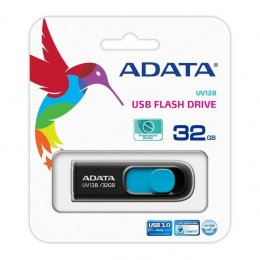 ADATA UV128 USB minne, 32GB, USB 3.0, svart/blå