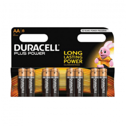 Duracell Plus Power AA batterier, 8st