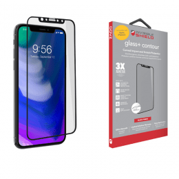 iPhone X/XS Skärmskydd ZAGG InvisibleShield Glass+ Contour Svart