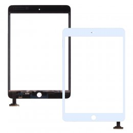 ipad mini 1 2 digitizer glas touch flex display ingen hemknapp vit