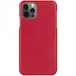 iphone 12 pro g case pu laderskal rod