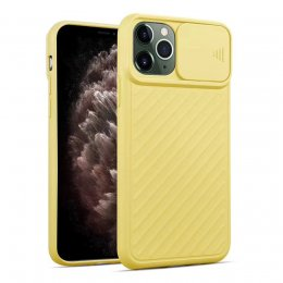 iphone 12 pro skal skydd lock kamera kameralock lås lense protection gul yellow
