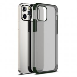 iPhone 12 Pro TPU PC protective skal mörk grön green dark