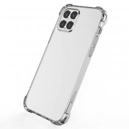 iphone 12 pro tpu shockproof transparent skal case skydd protective