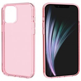 iphone 12 pro skal skydd rosa pink transparent tpu pc terminator