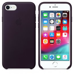 Apple Original ​Läderskal iPhone 8 / 7 / SE 2 Aubergine