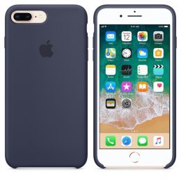 Apple original iPhone 7 plus / iPhone 8 plus silikon skal midnattsblå