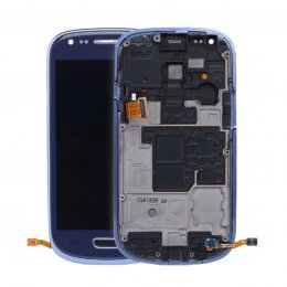 samsung galaxy s3 mini i8190 skärm blå blue display reserv delar