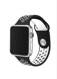 Apple Watch Armband 42mm svart vit framsida