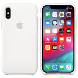 apple iphone xs original silikonskal vit