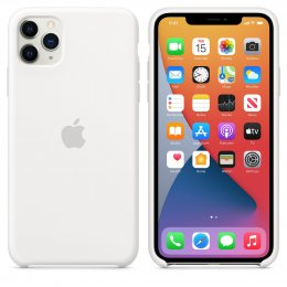 Apple iPhone 11 Pro Max Silikonskal Original Vit