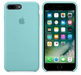 original Apple iPhone 7 Plus / 8 Plus Silikon skal Sea Blue