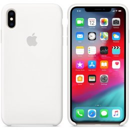 Apple iPhone XS Max Silikonskal original Vit