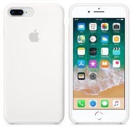 Apple iPhone 8 Plus/7 plus skal original silikon fodral vit.