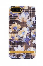 Richmond & Finch skal för iPhone 6/6S/7/8 Plus, Floral Checked