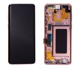 Samsung Galaxy S9 Plus Skärm LCD display Original - rosa/guld