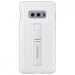 samsung galaxy s10e vit white skyddande stående skal standing protective cover