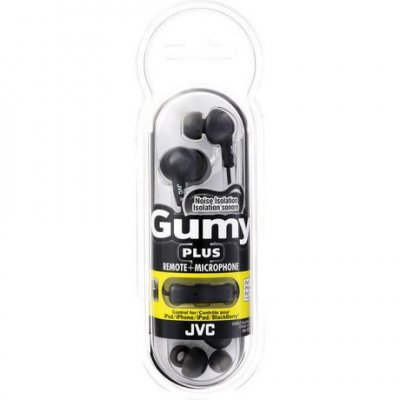 JVC Gumy Plus In-Ear Hörlurar W/Mic - HA-FR6 - Svart