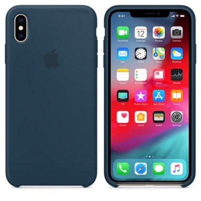 Apple iPhone XS Original Silikonskal - Pacific Green