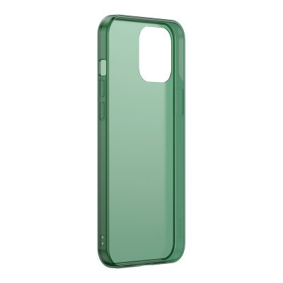 iphone 12 pro skal baseus skydd frost grön green frosted