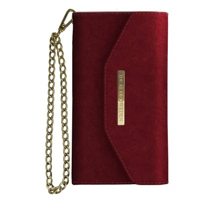 iDeal Mayfair Clutch Velvet iPhone X/XS - Röd