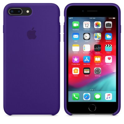 Apple Silikonskal Original för iPhone 8 Plus / 7 Plus​ - Ultraviolett​