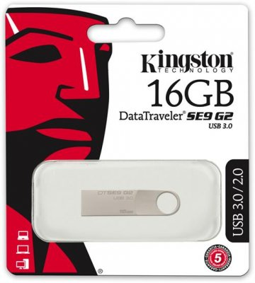 Kingston DataTraveler SE9 G2 - USB 3.0-minne, 16GB