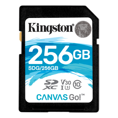 Kingston 256GB SDXC Canvas Go 90R45W CL10 U3 V30
