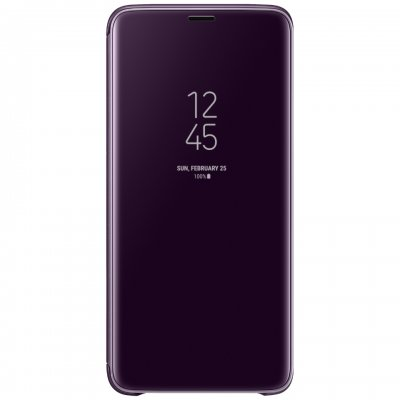 Original clear view fodral Samsung Galaxy S9 Plus Clear View lila.
