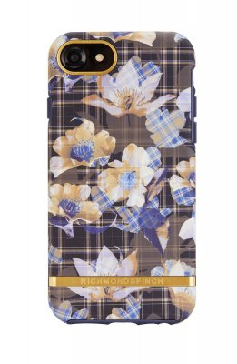 Richmond & Finch skal för iPhone SE 2/6/6S/7/8, Floral Checked