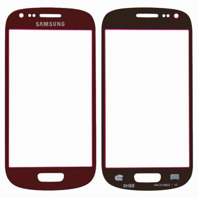 samsung galaxy s3 mini rod red glas glass fram reservdel