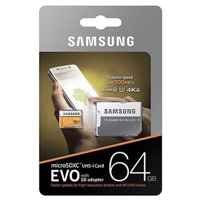 Samsung Evo MP64GA microSDXC Class 10 UHS-I U3 - 64GB